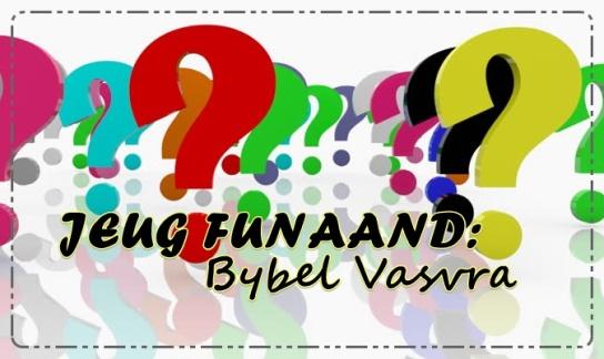 Jeug Funaand - Bybel vasvra