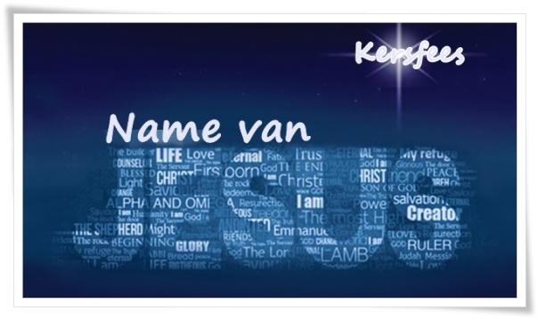 Kersfees - Name van Jesus 2
