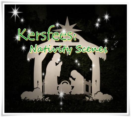 kersfees nativity scene - groot
