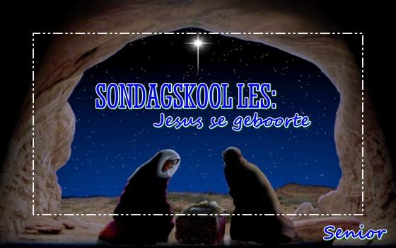 Sondagskool les - Jesus se geboorte