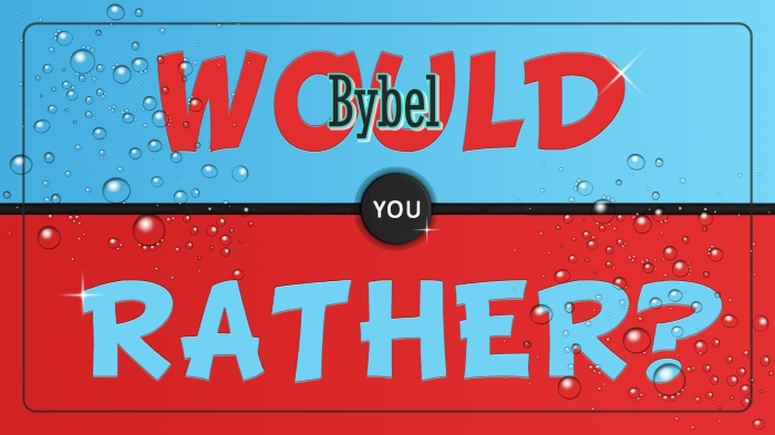 Speletjies bybel would you rather 1