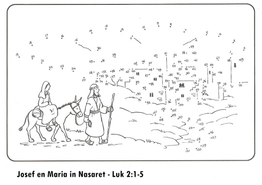 Josef en Maria reis in Nasaret