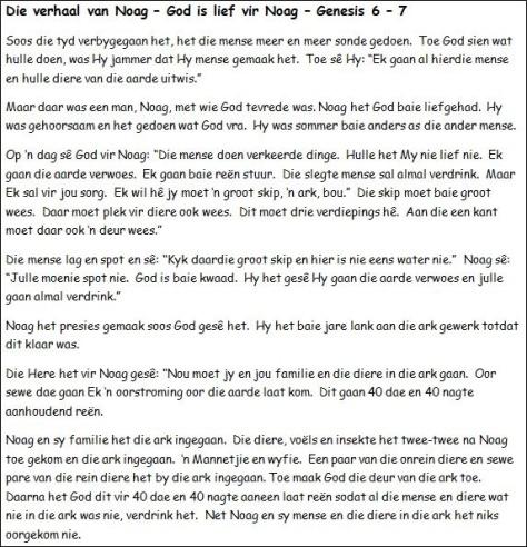 3. Die verhaal van Noag - God is lief vir Noag
