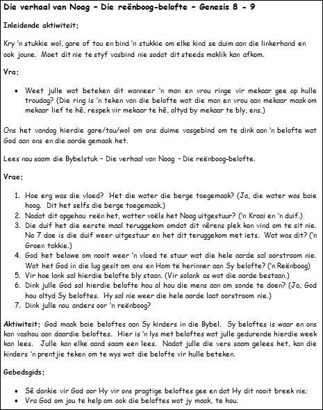 4a. Die verhaal van Noag - Die reenboog belofte