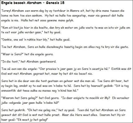 9a. Engele besoek Abraham