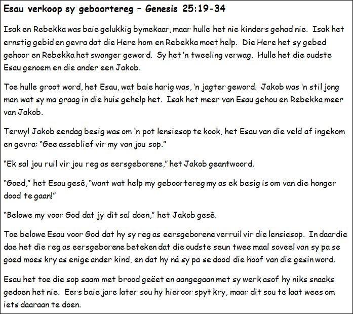 14. Esau verkoop sy geboortereg